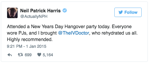 NPH New Years Hangover Party with The IV Doc